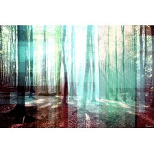 Tree Rays Graphic Art on Premium Wrapped Canvas