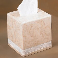 Champagne Marble Hand Carved Tissue Box Holder (Set of 2)