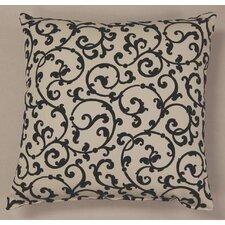 Julia Ebony Cotton Throw Pillow