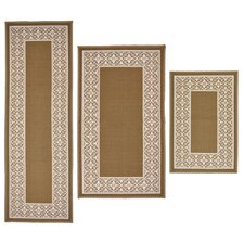 3 Piece Tripoli Beige Area Rug Set