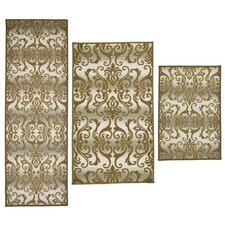 3 Piece Madrid Sand Area Rug Set