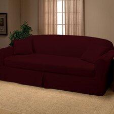 Microsuede 2-Piece Sofa Slipcover