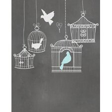 Birdcages Graphic Art Paper Print