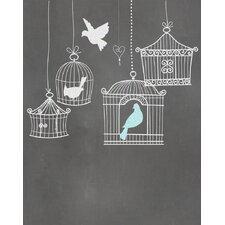 Birdcages Graphic Art Paper Print