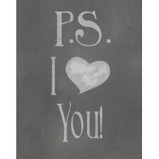 P.S. I Love You Textual Art Paper Print
