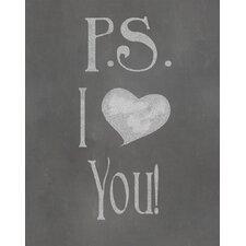P.S. I Love You Textual Art Paper Print