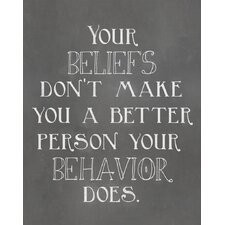 Your Beliefs Quote Textual Art Paper Print