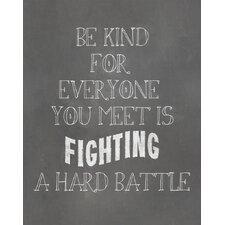Be Kind Textual Art Paper Print