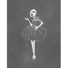 Vintage Fashion Graphic Art Paper Print