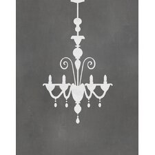 Chandelier Graphic Art Paper Print