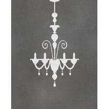 Chandelier Graphic Art Paper Print