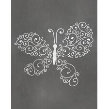 Butterfly Graphic Art Paper Print
