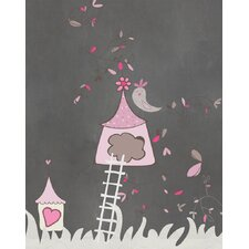 Birdhouse Graphic Art Paper Print
