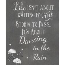 Dancing in The Rain Textual Art Paper Print