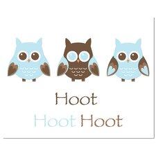 Owl Trio Hoot Art Print