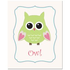 Owl in Frame Art Print