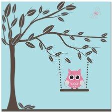Swinging Owl Art Print