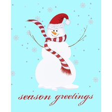Snowman Season Greetings Art Print