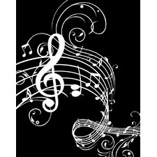 Music Notes Paper Print