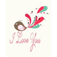 I Love You Bird Paper Print