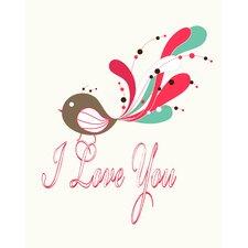 I Love You Bird Paper Print