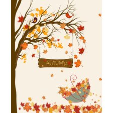Fall Umbrella by Secretly Spoiled Graphic Art