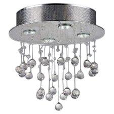 5 Light Crystal Flush Mount