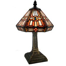 "Tiffany Style Bronze Cone 12"" Table Lamp"