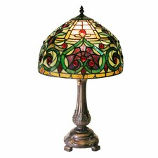 "Decorative 21"" H Table Lamp with Bowl Shade"