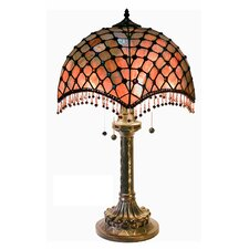"Beaded 26"" H Table Lamp with Bowl Shade"