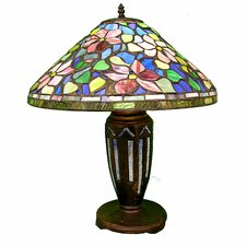 "Tiffany Style Floral 25"" H Table Lamp with Empire Shade"