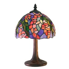 "Floral 12"" H Table Lamp with Bowl Shade"