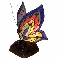 "Butterfly Accent 10"" H Table Lamp with Novelty Shade"