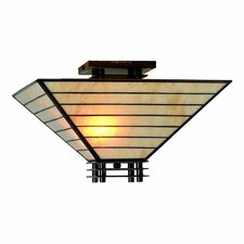 Mission 2 Light Semi Flush Mount