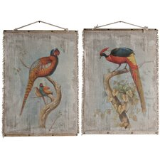 Oiseau Wall Decor 2 Piece Graphic Art Set (Set of 2)