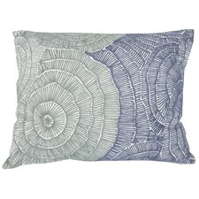 Shaleine Embroidered Pillow in Blue