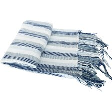 Herringbone Cashmere Like Fringed Throw Blanket