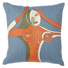 Embroidered Cotton Throw Pillow