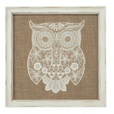 Vintage Lace Owl Wall Decor