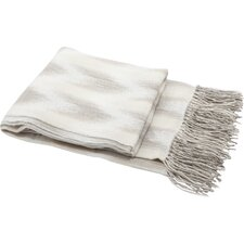 Space Dyed Fringed Throw Blanket