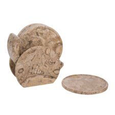 Fossil Stone Coaster (Set of 6)