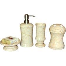 4 Piece Cameo Bath Set