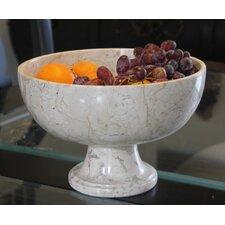 Cameo Pedestal Marble Serving Bowl