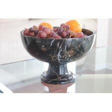 King Pedestal Marble Serving Bowl