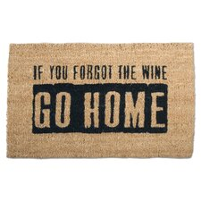 """Where's The Wine?"" Doormat"