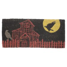 Halloween Haunted House Estate Doormat