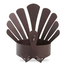 Sitting Turkey Metal Dish