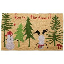 Fun in the Snow Doormat