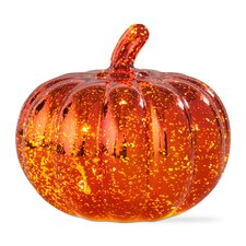 Halloween LED Mercury Glass Pumpkin