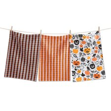 3 Piece Halloween Toss Dishtowel Set